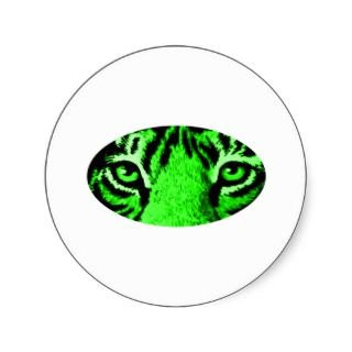 Green Tiger Eyes The MUSEUM Gifts Stickers