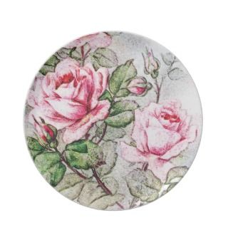 Vintage Roses Party Plate