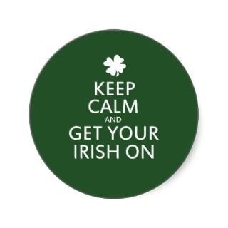 st patricks day 4 leaf clover keep calm and get your irish on