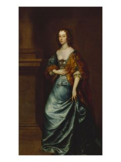Portrait of Mary Villiers, Duchess of Lennox and Richmond, in a Blue Dress, 17th Century Giclee Print by Sir Anthony Van Dyck