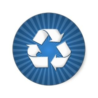 Blue Recycle Stickers 001