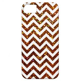 Colorful Gold Gliter Zig Zag Pattern iPhone 5 Cover