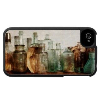 Row of Medicine Bottles iPhone 4 Case