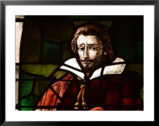 Stained Glass Design of Shakespeare Pre made Frame