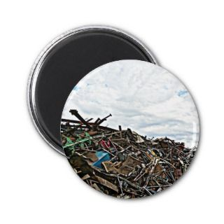 Junk Yard Scrap Metal at Depot Refrigerator Magnets