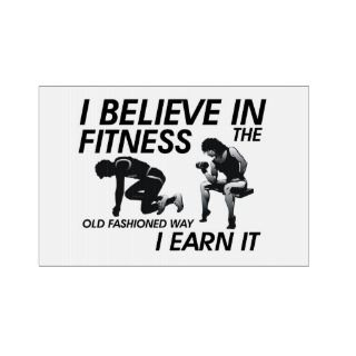 TOP Believe in Fitness Yard Sign