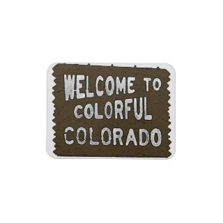 Colorful Colorado welcome sign souvenir magnet
