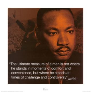 Martin Luther King, Jr. Measure of a Man Print