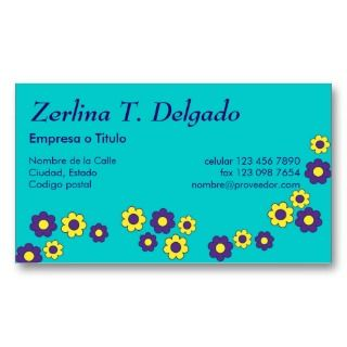 Zerlina de Flores Purpura Business Card Template