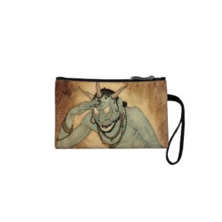 Vintage Halloween, Spooky Demon Monster with Horns Wristlets