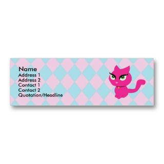 Pink Kitty Cat Profile Cards Business Card