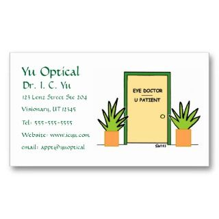 Optical Cartoon Business or Appointment Card Business Card Template