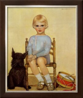 Boy with Dog, 1933 Pre made Frame