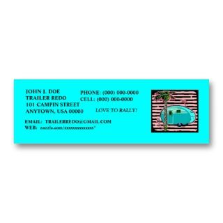 TRAVEL TRAILERS PROFILE CARDS! BUSINESS CARD TEMPLATE