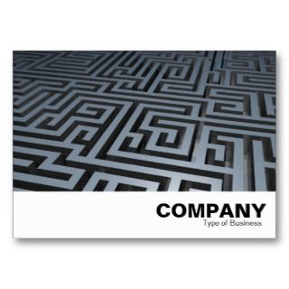 Metal Maze Business Card Template