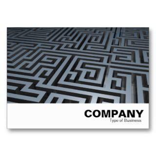 Metal Maze Business Card Template