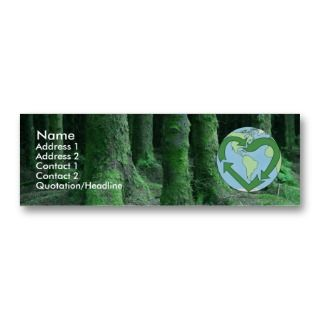 Live Earth Friendly Business Card Templates