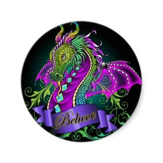 Sonya Rainbow Believe Dragon Art Stickers