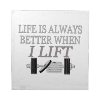 Bodybuilding Life Is Always Better When I Lift Napkin