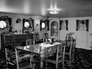 A View Showing the Dining Room in President Rafael L. Trujillos Yacht Ramfis Premium Photographic Print by Thomas D. Mcavoy
