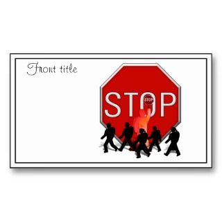 Crossing Guard w/Kids & Stop Sign Business Cards