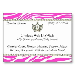 Pink Tiara Gone Wild / Chubby profile cards by LadyDenise