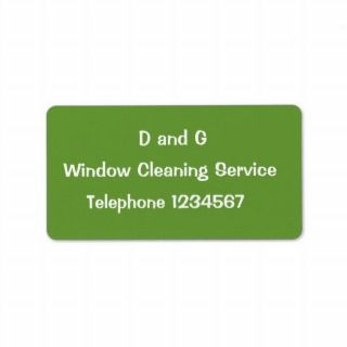 TRADES, WINDOW CLEANING PERSONALIZED ADDRESS LABELS