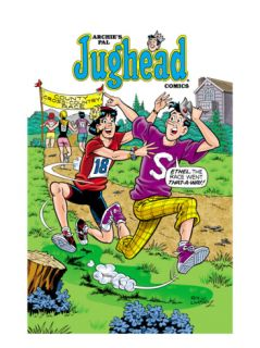 Archie Comics Cover: Jughead #196 County Cross Country Race with Ethel Print by Rex Lindsey