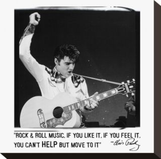 Elvis Rock & Roll Music Stretched Canvas Print