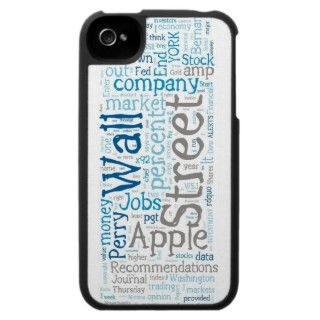 Wall Street Word Panel iPhone Case