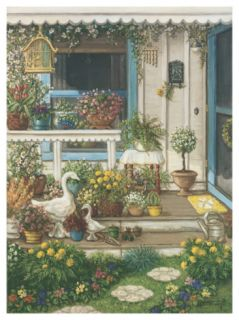Spring Front Porch Print by Janet Kruskamp