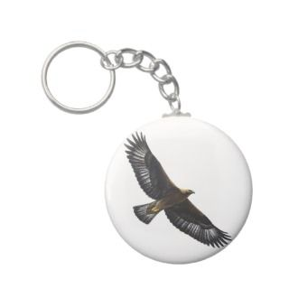 Glorius Golden Eagle Soaring Keychains