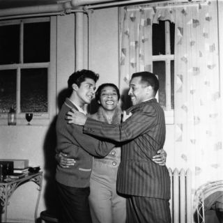 Dinah Washington, Rafael Campos, Eddie Chamblee   1963 Photographic Print by Isaac Sutton