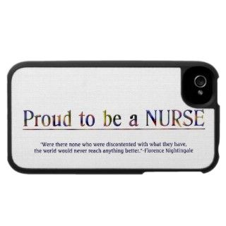 Proud to be a Nurse with quote. iPhone 4 Cover