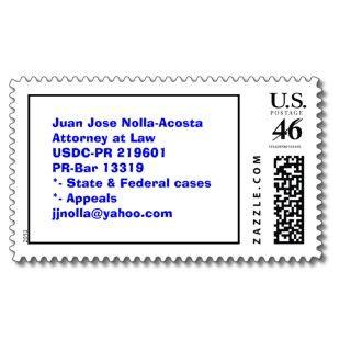 Juan Jose Nolla AcostaAttorney at LawUSDC PR 21Postage Stamp