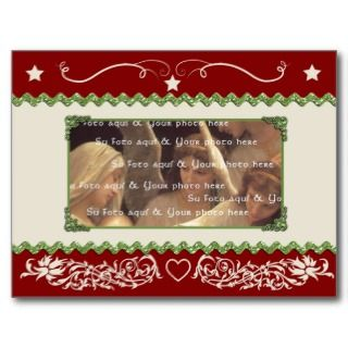 Customizable Christmas card template Post Card