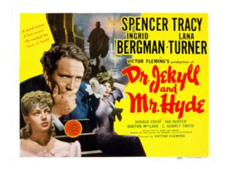 Dr. Jekyll and Mr. Hyde, Lana Turner, Spencer Tracy, Ingrid Bergman, 1941 Premium Poster