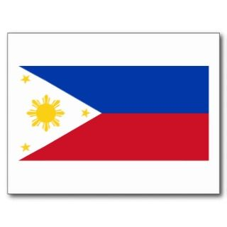 Philippine Flag, Philippine Islands National Flag Postcard
