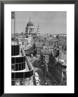 Elevated view of Fleet Street and Saint Pauls Cathedral Pre made Frame