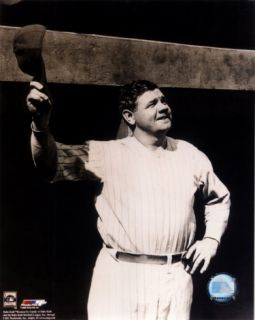 Babe Ruth   Tipping cap, sepia Photograph