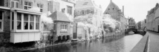 Houses Along a Channel, Bruges, West Flanders, Belgium Photographic Print by Panoramic Images
