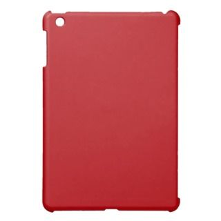 Blood Red Trend Color Customized Template Blank iPad Mini Cases