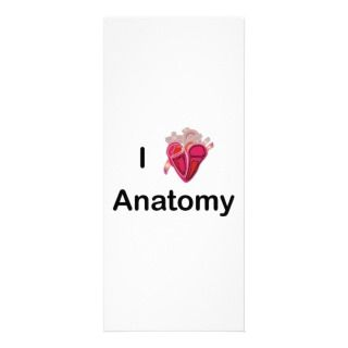 Love Anatomy with human heart! Rack Cards