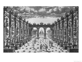 Stage Design by Giacomo Torelli (1608 78) for the Opera Venere Gelosa Performed in 1643 Giclee Print by Pierre Aveline