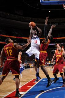 Cleveland Cavaliers  v Philadelphia 76ers Jrue Holiday and Joey Graham Photographic Print by Jesse D. Garrabrant