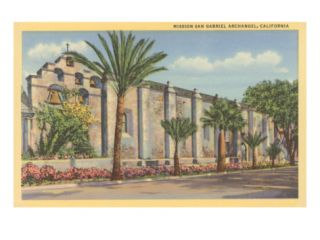 Mission San Gabriel Archangel, California Giclee Print