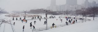 Group of People Ice Skating in a Park, Bicentennial Park, Chicago, Cook County, Illinois, USA Photographic Print by Panoramic Images
