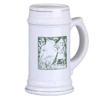 St. Patrick's Day Woodcut Leprechaun Stein Mug