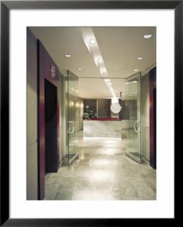 Elevators and Glass Doors in an Office Building Pre made Frame
