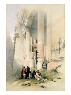 Temple Called El Khasne, Petra, 1839, Plate 94 Vol.III of The Holy Land Giclee Print by David Roberts